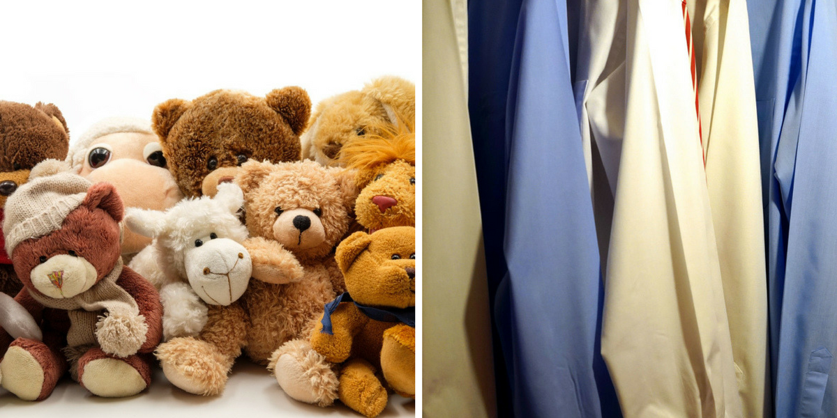 stuffed animals, clothing clutter is not trash
